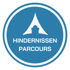 Hindernissenparcours springpaleis