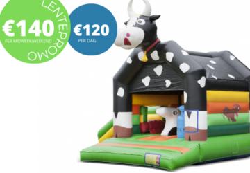 Promo koe met glijbaan