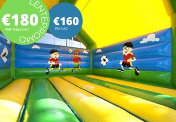 Promo voetbal met interactief spelsysteem